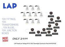 Lap fixe basse tension Fire Rated 12 V Downlight entrepreneur Pack Blanc Pk10