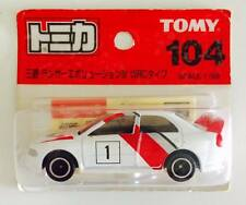 TOMY TOMICA NO.104 MITSUBISHI LANCER EVOLUTION IV WRC RALLY ( RARE )