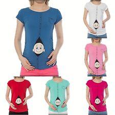 Moda premamá camiseta con Divertido dulzura Motivo Embarazo Regalo bvk7