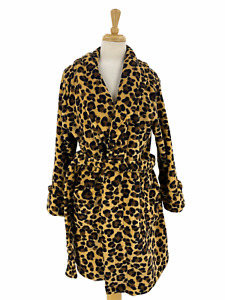 Crofts & Barrow Intimates Women's Casual Leopard Print Robe Size Small S