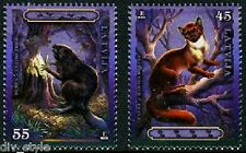 Wild Animals and their Tracks Set of 2 stamps mnh Latvia 2008