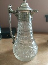Antique Glass and Silver Plated Claret Jug circa 1896 perfect no damages
