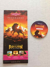 badge button le roi lion disneyland paris + programme ( programm ) neuf