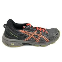 Asics Gel Venture 6 Running Shoes Womens Size 9.5 9 1/2 Gray Black Sneakers