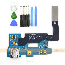 New USB Charging Dock Port Flex Cable + TOOLS For Samsung Galaxy Note 2 II N7100
