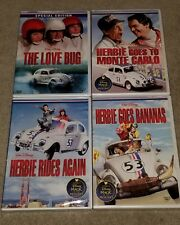 Disney Herbie 4 Movie LOT The Love Bug, Monte Carlo, Rides Again & Goes Bananas