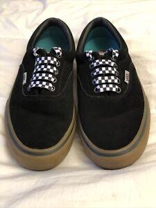 Vans Era Pro Skate Shoes- Black/Gum Suede Ultracush HD Size 6