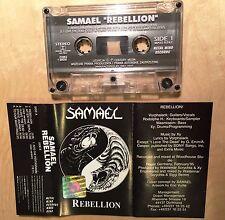 SAMAEL - Rebellion MC RARE POLISH PRESS 1995 + Rebellion PATCH 7cm/7cm