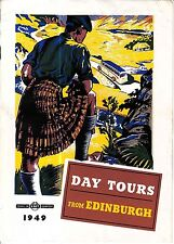 Travel in SMT Comfort 1949 Day Tours from Edinburgh Scotland Old Booklet