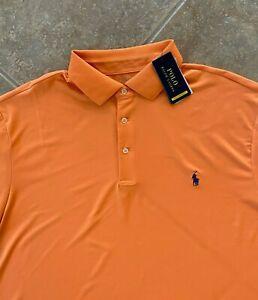 Polo Ralph Lauren Performance Interlock Polo Shirt 3XB Orange w/ Pony NWT $110