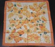 "AUTH NIBWOT HERMÈS 35"" 90cm Silk Scarf LES CAPUCINES  Orange Peach Hunter Green"
