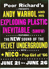 Velvet Underground Poster Lou Reed Nico Andy Warhol