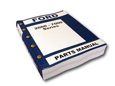 FORD 2000 3000 4000 5000 7000 SERIES TRACTOR PARTS MANUAL CATALOG