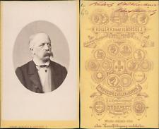 Koller, Budapest, Robert Volkmann, compositeur Vintage CDV albumen carte de visi
