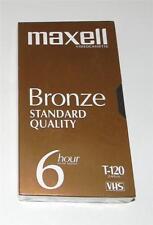 (1) NEW SEALED MAXELL BRONZE T-120 BLANK 6 HR.STANDARD QUALITY VHS CASSETTE TAPE