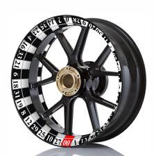 Wheelskinzz® Felgenrandaufkleber Felgendekor Roulett-Design Schwarz Weiß