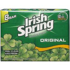Irish Spring Deodorant Bar Soap 3.75oz / 106.3g Original, Aloe, Icy Blast New