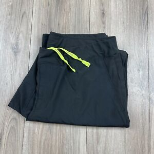 BROOKS Men's Running Pants Size L Large Reflective Black Lightweight