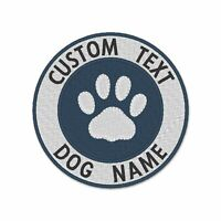 Your text embroidered patch, Custom Personalized embroidery patch, paw patch
