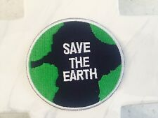 Save The Earth Round Freebie Green Peace Love Iron On Patches Patch