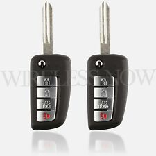 2 Car Flip Key Fob Keyless Entry Remote For 2004 2005 2006 Nissan Maxima