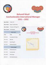 BOHUMIL MUSIL CZECHOSLOVAKIA INTL MGR 1951-1952 RARE ORIGINAL AUTOGRAPH CUTTING