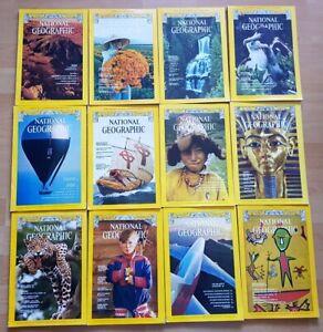 National Geographic 1977 english komplett Sammlung 1-12 Zeitschrift Hefte maps