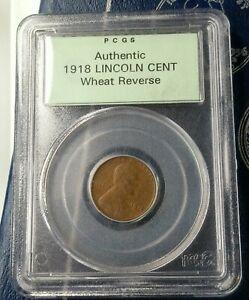 1918 PCGS Authentic Wheat cent Sample Slab