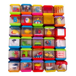 Fisher Price Lot of 31 Peek a Boo Blocks Animals Preschool Sensory Incrediblock