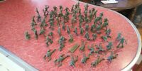 Lot of 75 Vintage Green Plastic Army Men Toy Soldiers