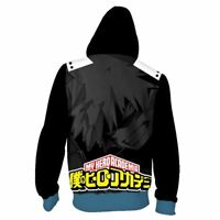Long Sleeve Hooded Jacket Coat My Boku No Hero Academia Bakugo Katsuki #HJ59