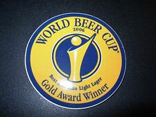 WORLD BEER CUP 2006 Best American Light Lager STICKER decal craft beer brewery