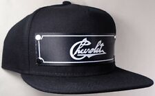 Hat Cap Front Nylon Strap Chevrolet Chevy Heritage Text Black CHAF