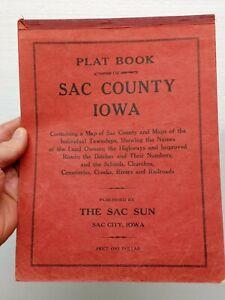Vintage PLAT BOOK OF SAC COUNTY IOWA 1931