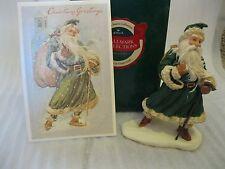 1991 Hallmark HEIRLOOM SANTA Green Coat*Postcard Julia Lee CHRISTMAS GREETINGS