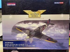 CORGI 39702A 1/72 HURRICANE MK.II, RAF No.43 SQN DANIEL DU VIVIER, ENGLAND 1942