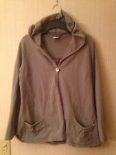 BOOB Nursing Maternity Hooded Sweatshirt Wrap Sz Large Gray Button Cover