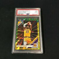 2019 Panini Donruss Green Yellow Laser #94 LEBRON JAMES PSA 9 LA Lakers ~AA4-885