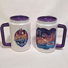 Pair Of Disney Fantasmic Travel Mugs With Lids Whirley