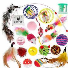 Katzenspielzeug Set Katzenspielzeug Cat Toy mit Bällen Angel Mäusen 20-teilig DE