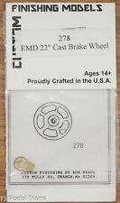 "Custom Finishing HO #278 EMD Cast Iron Brake Wheel 22"""