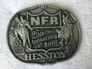 1983 National Finals Rodeo Hesston NFR 25th Anniversary Series Belt Buckle