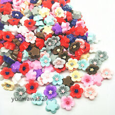 10-500pcs Resin14mm Peach blossom Flower flatback For phone/wedding/craft