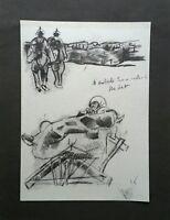 Giovanni Antoci - Carboncino su carta, opera originale firmata