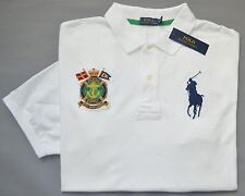 New 3XLT 3XL TALL POLO RALPH LAUREN Mens Big Pony white rugby shirt top 3XT NWT
