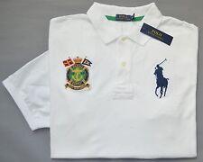$125 New 3XB 3XL BIG POLO RALPH LAUREN Men Big Pony white rugby shirt top 3X NWT