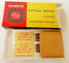 Carbon Composition Resistor 50 pcs OD223J Ohmite Axial 1//4 Watt 22K Ohm 5/%