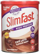 SlimFast Meal Replacement Powder Shake Cafe Latte 438 g No Added Sugar