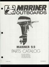 Orig 1981 Mariner 9.9 HP Outboard Motor/Engine Illustrated Parts List Catalog