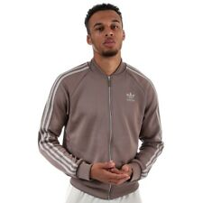 Adidas Originals Mens SST Mesh Track Top Full Zip Jacket - CD7594 - Brown